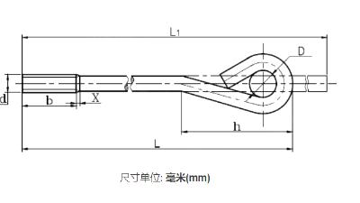地脚螺栓规格国标型号