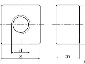 与地脚螺栓配套用地脚螺母 DIN 798 - 2007