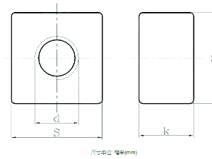 与地脚螺栓配套用地脚螺母 DIN 798 - 2009