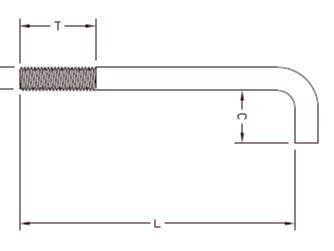 地脚螺栓长度表