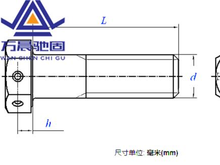 六角头头部带孔螺栓 细牙 GB /T 32.3 - 2020
