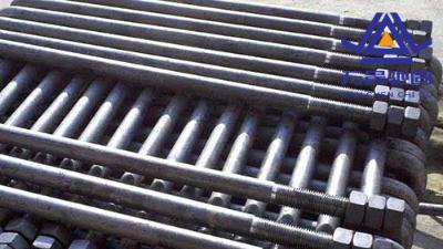 说明地脚螺栓螺纹的连接方式