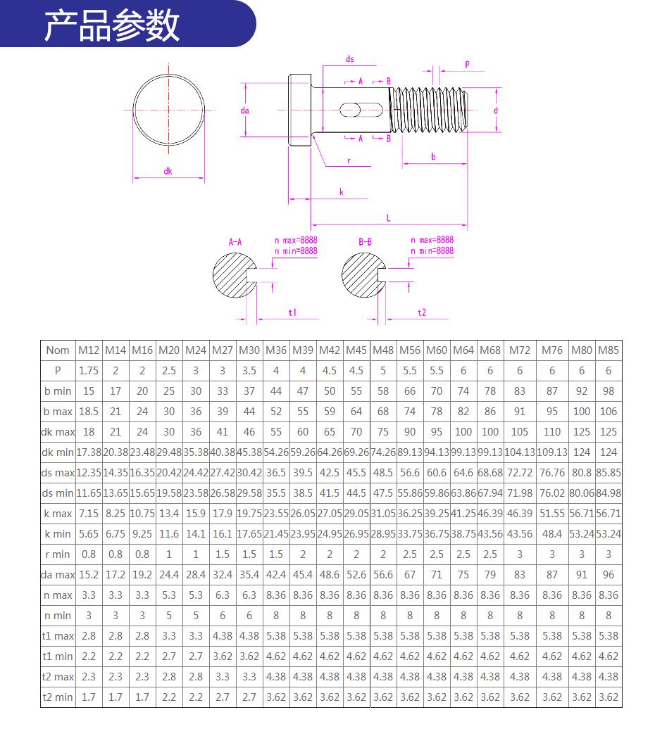 钢网架螺栓球节点用高强度螺栓_05
