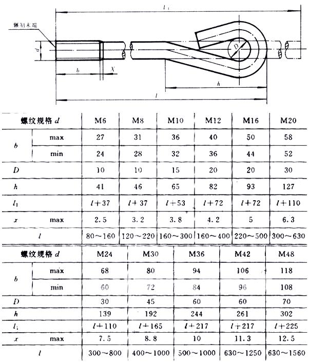 GB/T 799-88 地脚螺丝