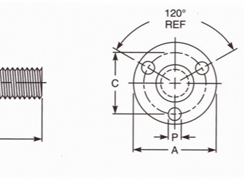IFI-148 2002 U3型焊接螺栓(支撑面带三圆形焊点)