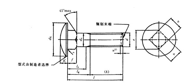 GB 14-1998 大半圆头方颈螺栓 C级