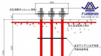 地脚螺栓安装规划及拉力测试