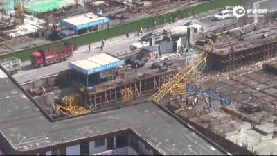 郑州一工地塔吊倒塌已致3死1伤