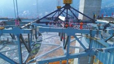 川藏第一桥,使用接近60万颗高强度螺栓