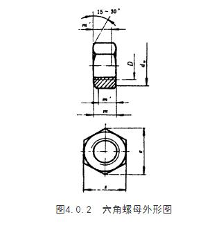 六角螺母外形图