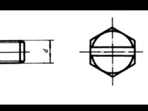 GB 29.1-88 六角头头部带槽螺栓 A和B 级