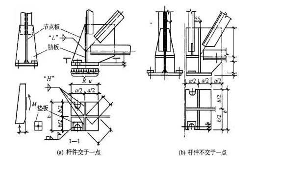 梯形屋架铰接支座节点
